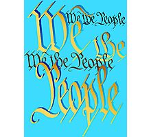 Blue-Gold We The People Photographic Print