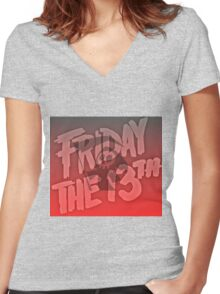 Grim Reaper Friday The 13th Women's Fitted V-Neck T-Shirt