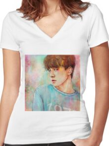 ROT | CHEN Women's Fitted V-Neck T-Shirt