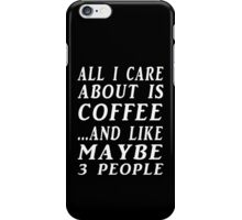 all about coffee blk iPhone Case/Skin