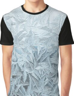 Ice Blue Frost Print Graphic T-Shirt