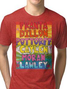 O2L 6/6 FOREVER HAND DRAWN NAMES Tri-blend T-Shirt