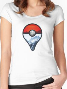 Pokemon Go Locations  Women's Fitted Scoop T-Shirt