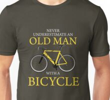 Never Underestimate Old Man With Bicycle Unisex T-Shirt