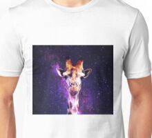 Awkward Giraffe in Space Unisex T-Shirt