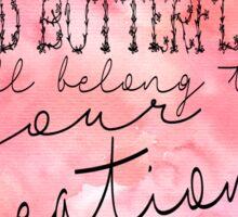 Olivia Lyric Design Sticker