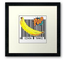 """Pop"" Barcode Banana by American Jank Brand Framed Print"