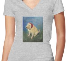 The Babushka Dog Women's Fitted V-Neck T-Shirt