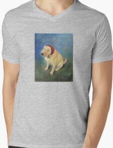 The Babushka Dog Mens V-Neck T-Shirt