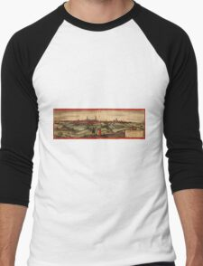 Arras Vintage map.Geography France ,city view,building,political,Lithography,historical fashion,geo design,Cartography,Country,Science,history,urban Men's Baseball ¾ T-Shirt