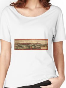 Arras Vintage map.Geography France ,city view,building,political,Lithography,historical fashion,geo design,Cartography,Country,Science,history,urban Women's Relaxed Fit T-Shirt