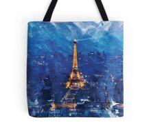 Paris Nights Watercolor Print Tote Bag