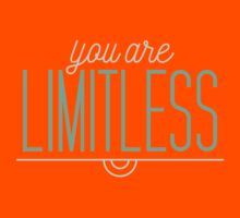 You Are Limitless - Typography Quote Kids Tee