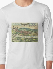 Arnsberg Vintage map.Geography Germany ,city view,building,political,Lithography,historical fashion,geo design,Cartography,Country,Science,history,urban Long Sleeve T-Shirt