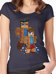 8bit boy with 10th Doctor shadow Women's Fitted Scoop T-Shirt