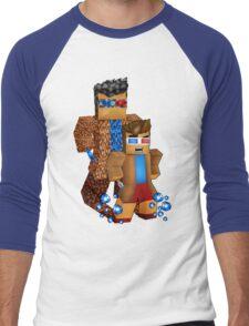 8bit boy with 10th Doctor shadow Men's Baseball ¾ T-Shirt