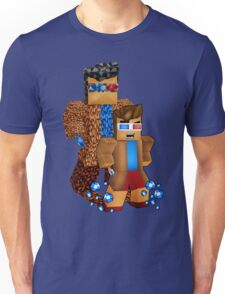 8bit boy with 10th Doctor shadow Unisex T-Shirt