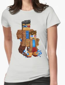 8bit boy with 10th Doctor shadow Womens Fitted T-Shirt