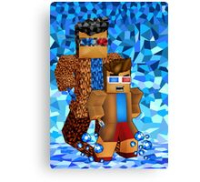 8bit boy with 10th Doctor shadow Canvas Print