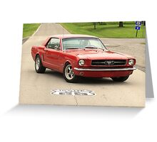 Mustang, Route 66 Greeting Card