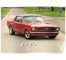 Mustang, Route 66 Poster