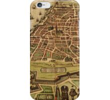 Antwerpen Vintage map.Geography Belgium ,city view,building,political,Lithography,historical fashion,geo design,Cartography,Country,Science,history,urban iPhone Case/Skin