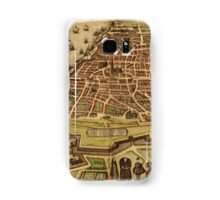 Antwerpen Vintage map.Geography Belgium ,city view,building,political,Lithography,historical fashion,geo design,Cartography,Country,Science,history,urban Samsung Galaxy Case/Skin