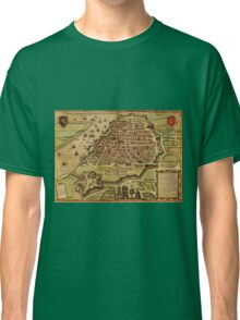 Antwerpen Vintage map.Geography Belgium ,city view,building,political,Lithography,historical fashion,geo design,Cartography,Country,Science,history,urban Classic T-Shirt