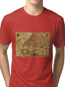 Antwerpen Vintage map.Geography Belgium ,city view,building,political,Lithography,historical fashion,geo design,Cartography,Country,Science,history,urban Tri-blend T-Shirt