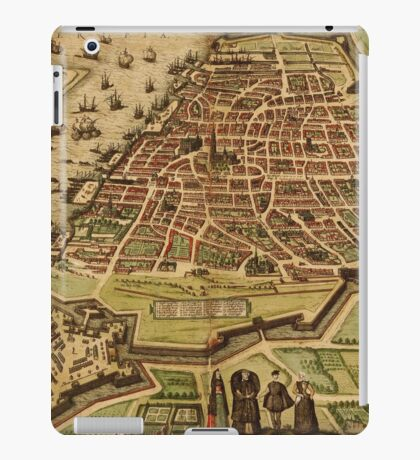 Antwerpen Vintage map.Geography Belgium ,city view,building,political,Lithography,historical fashion,geo design,Cartography,Country,Science,history,urban iPad Case/Skin