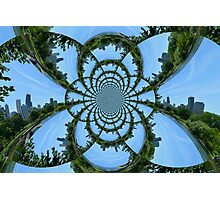 Chicago Skyline Kaleidoscope Photographic Print