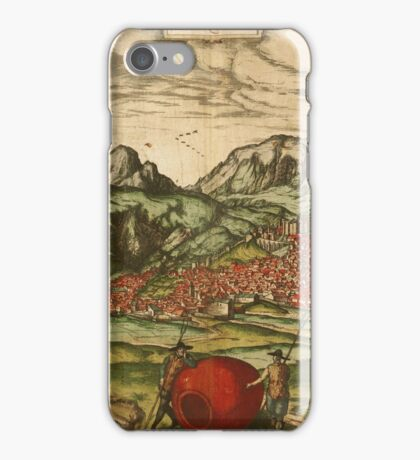 Antequera Vintage map.Geography Spain ,city view,building,political,Lithography,historical fashion,geo design,Cartography,Country,Science,history,urban iPhone Case/Skin