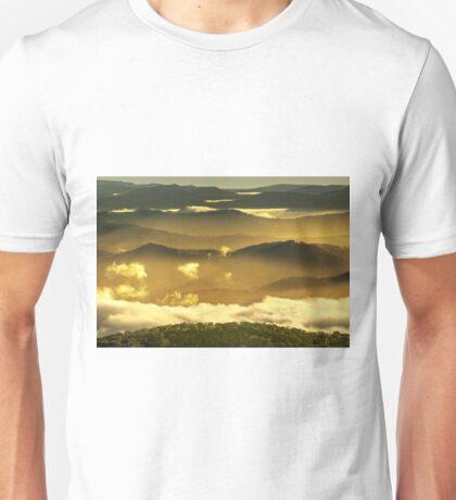 Parallel ridges, Victorian alps Unisex T-Shirt