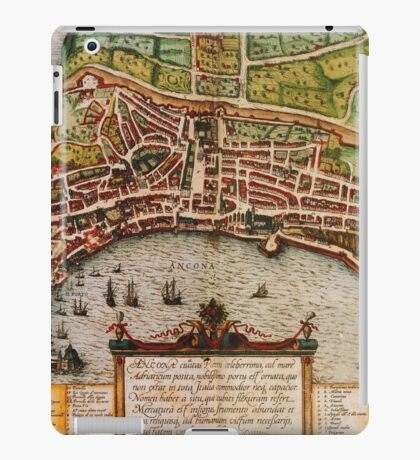 Ancona Vintage map.Geography Italy ,city view,building,political,Lithography,historical fashion,geo design,Cartography,Country,Science,history,urban iPad Case/Skin