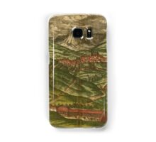Alham Vintage map.Geography Germany ,city view,building,political,Lithography,historical fashion,geo design,Cartography,Country,Science,history,urban Samsung Galaxy Case/Skin