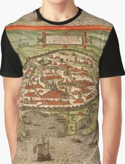 Alexandria Vintage map.Geography Egypt ,city view,building,political,Lithography,historical fashion,geo design,Cartography,Country,Science,history,urban Graphic T-Shirt