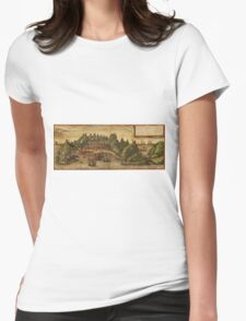 Aden Vintage map.Geography Yemen ,city view,building,political,Lithography,historical fashion,geo design,Cartography,Country,Science,history,urban Womens Fitted T-Shirt
