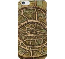 Aachen Vintage map.Geography Germany ,city view,building,political,Lithography,historical fashion,geo design,cartography,Country,Science,history,urban iPhone Case/Skin
