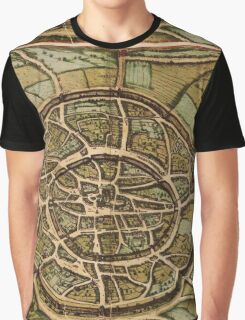 Aachen Vintage map.Geography Germany ,city view,building,political,Lithography,historical fashion,geo design,cartography,Country,Science,history,urban Graphic T-Shirt