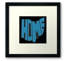 Ohio HOME state design Framed Print