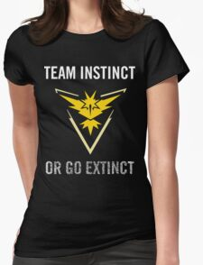 Team Instinct or Go Extinct (Black) Womens Fitted T-Shirt