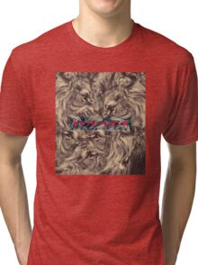 Lion Fuse Graphic with Japanese text Tri-blend T-Shirt