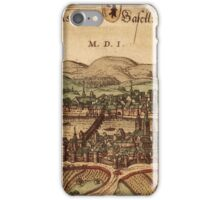 Basel Vintage map.Geography Switzerland ,city view,building,political,Lithography,historical fashion,geo design,Cartography,Country,Science,history,urban iPhone Case/Skin