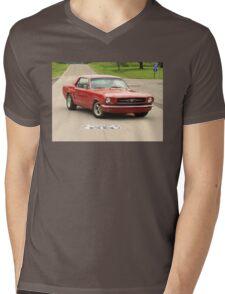 Mustang, Route 66 Mens V-Neck T-Shirt
