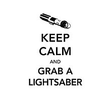 Keep Calm Lightsaber Photographic Print