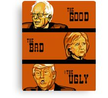 The Good, The Bad, and The Ugly of 2016 Canvas Print