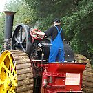 Burrell Steam Tractor - Rear View by Patricia Howitt