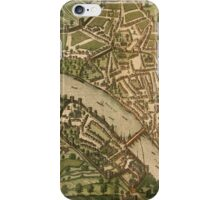 Basel 2 Vintage map.Geography Switzerland ,city view,building,political,Lithography,historical fashion,geo design,Cartography,Country,Science,history,urban iPhone Case/Skin