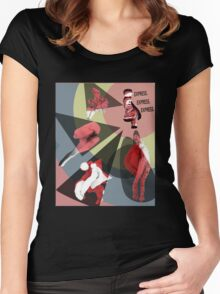 Express. (B) Women's Fitted Scoop T-Shirt