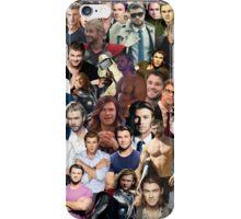 Chris Hemsworth Collage  iPhone Case/Skin